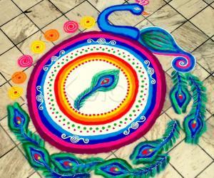 My Colourful Diwali Peacock
