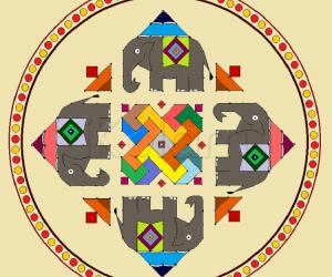 Swastik-elephant-kolam