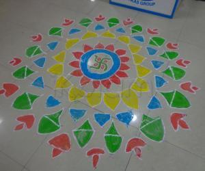 Free Hand Rangoli for Diwali