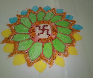Rangoli: diwali puja rangoli - 2012