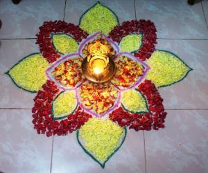 Rangoli: Pookolam welcoming Purataasi