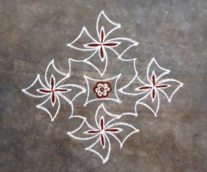 Four petaled flower kolam