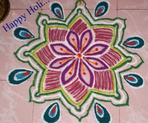 Rangoli: Holi Rangoli