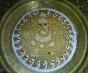 Kolam on plate