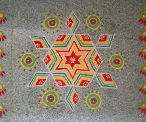Rangoli: Simply Dotted
