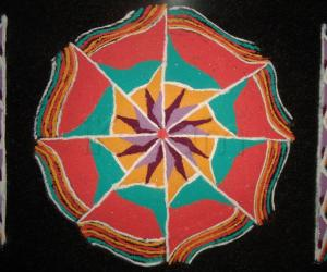 Rangoli: My First Freehand