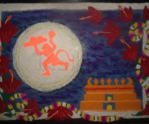 Rangoli: Hanuman Jayanthi Special Wishes