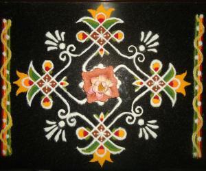 Rangoli: Varamahalakshmi Pooja Special