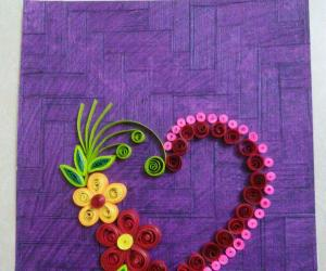 Rangoli: Valentines  day  special quilling
