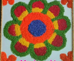 Tamil  new year  rangoli