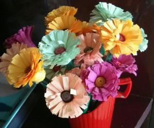 Rangoli: Quilling  flowers