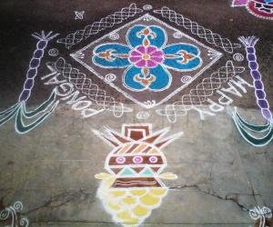 MY PONGAL KOLAM FOR THIS YEAR 2013