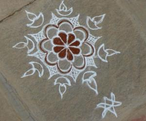 Trial Rangoli by a beginner