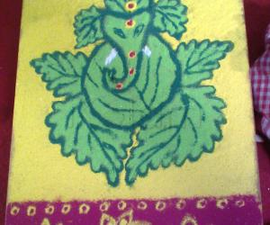 Pillaiyar kolam