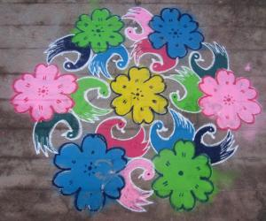 Margazhi dew drops kolam contest 2013