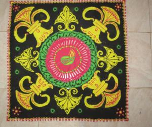 Deepavali contest rangoli