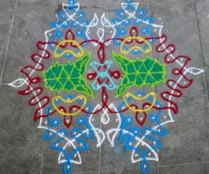 Twin celebration kolam