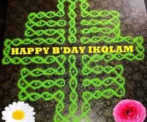 Rangoli: HAPPY BIRTHDAY KOLAM