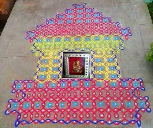 Rangoli: Ganesh Chathurthi rangoli