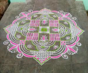 Rangoli: Friday padikolam