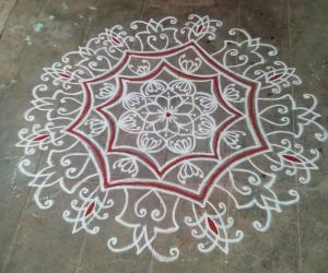 Rangoli: Tuesday kavi kolam