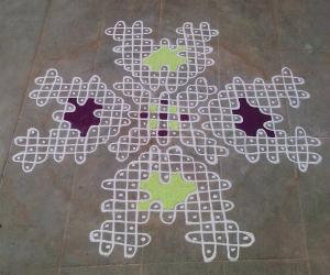 Rangoli: Happy birthday spl kolam