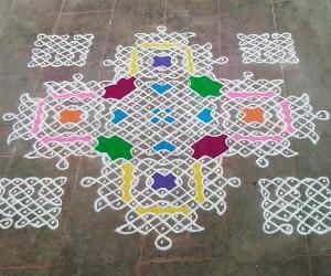 Rangoli: Special kolam-1100th kolam