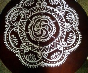 Rangoli: Table top rangoli