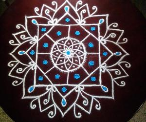 Table top rangoli