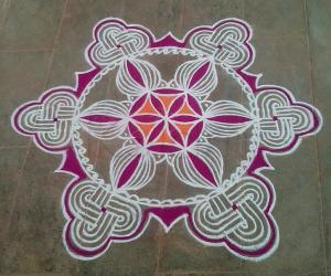 Rangoli: Aadi 3rd Sevvai kolam