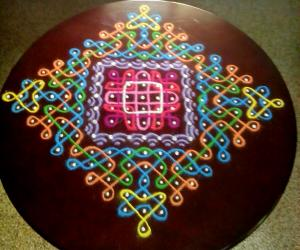 Rangoli: Table top rangoli