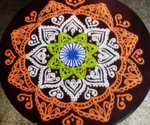 Rangoli: Independence day spl kolam