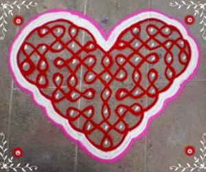 Valentine day spl rangoli-2
