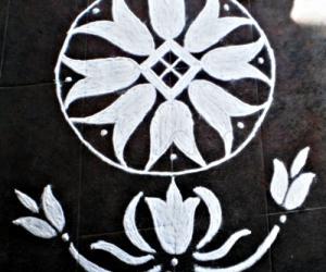 Garden rangoli entry-2-tulips