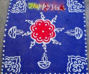 Rangoli: Holi spl rangoli