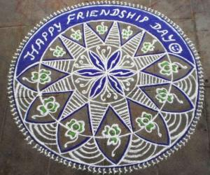 Friendship day kolam