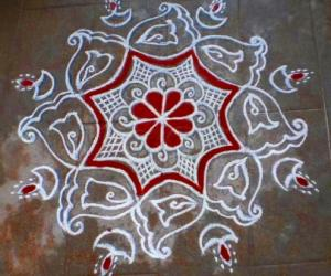 Aadi 4th sevvai kolam