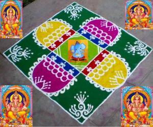 Ganesh Chathurthi Spl Kolam