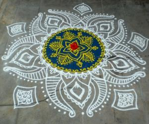Purattaasi 1st saturday kolam