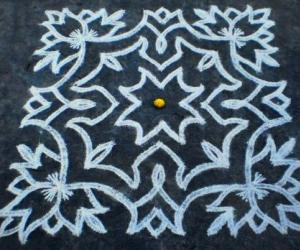 New floor rangoli