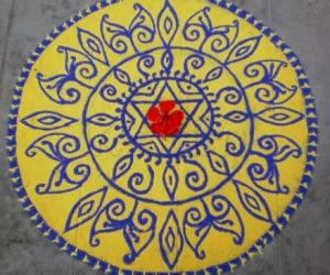 Rangoli: Purattaasi 3rd saturday kolam