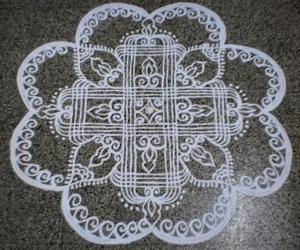 Rangoli: Navrathri day-7