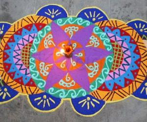Rangoli: Contest kolam-trial version