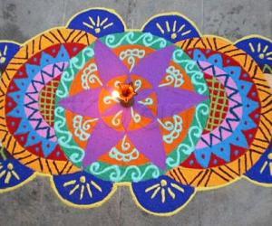 Rangoli: Contest kolam-trial version