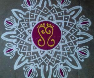 Rangoli: Purattaasi 4 th Saturday kolam