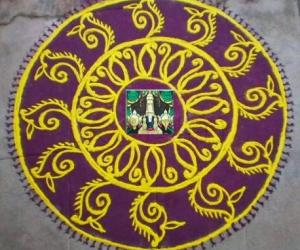 Rangoli: Purattaasi 1st saturday kolam