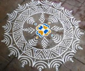 Rangoli: Puratasi 4th saturday kolam