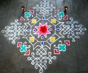Rangoli: Vaikunta Ekaadesi Spl Kolam