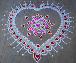 Valentine Day Spl Kolam