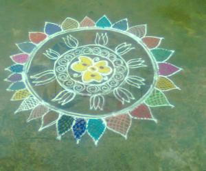 Rangoli: circle rangoli
